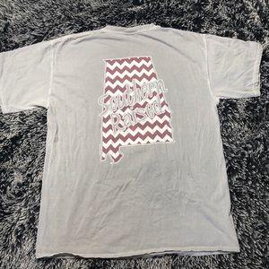 """Southern Raised"" grey pocket T-shirt."